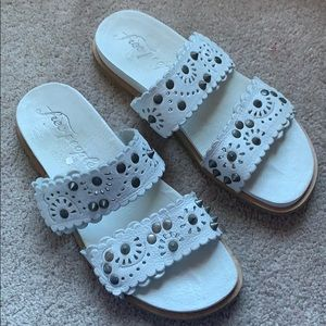 Free People leather studded slide sandals. Size 39